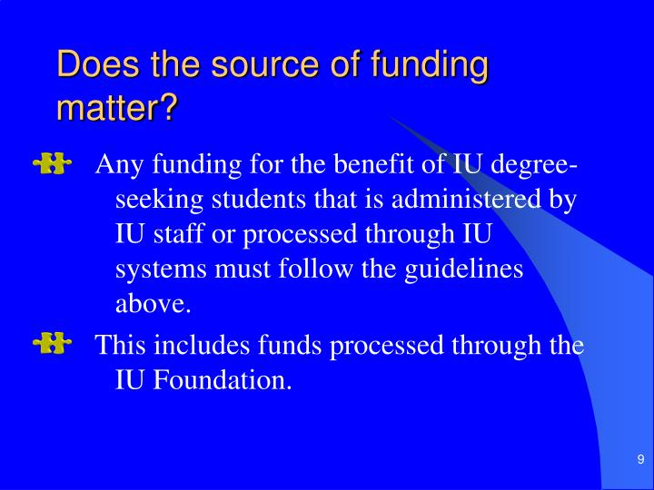 Does the source of funding matter?