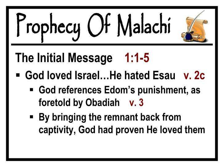 Prophecy  Of  Malachi