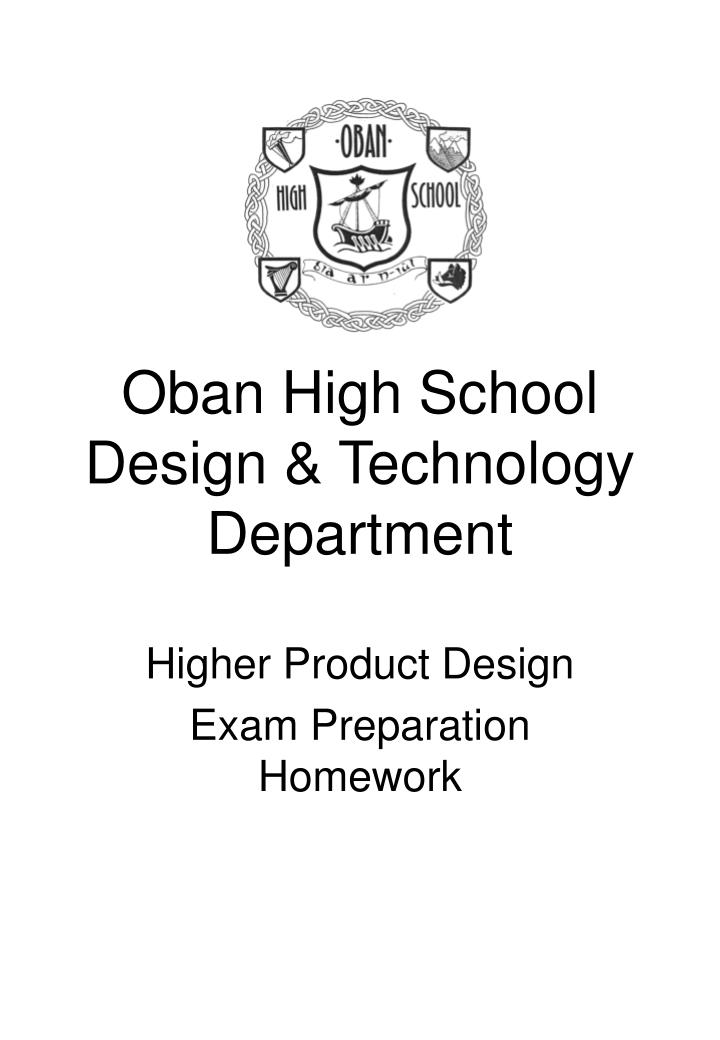 Oban high school design technology department