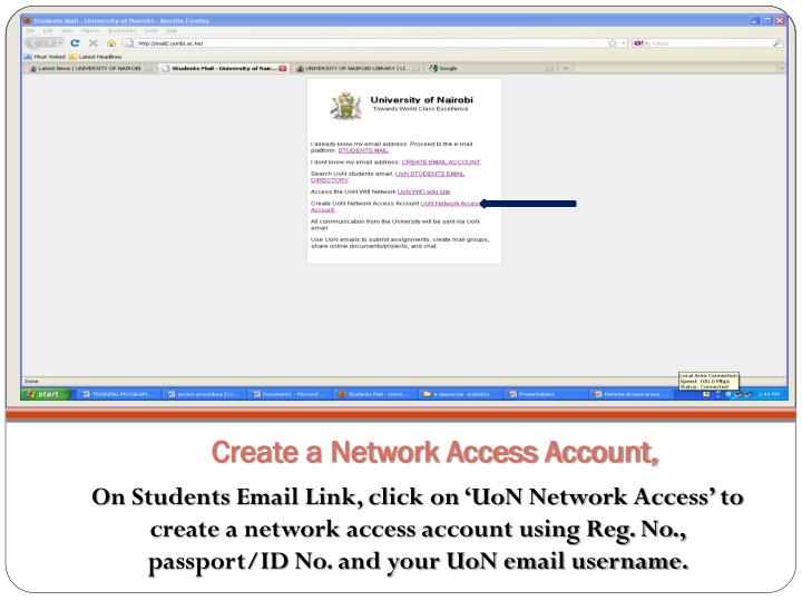 Create a Network Access Account,