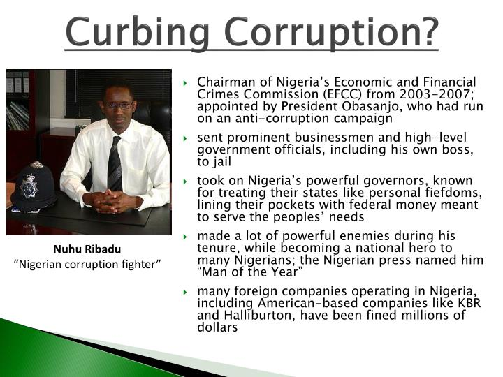 Curbing Corruption?
