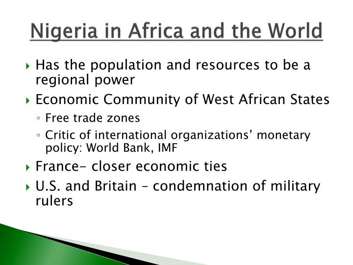 Nigeria in Africa and the World