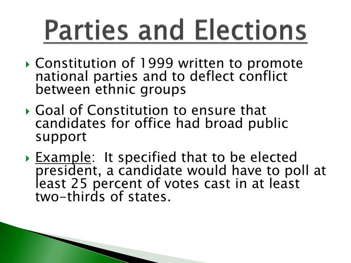 Parties and Elections