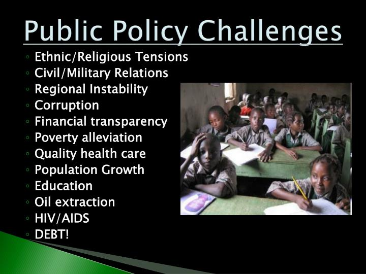 Public Policy Challenges