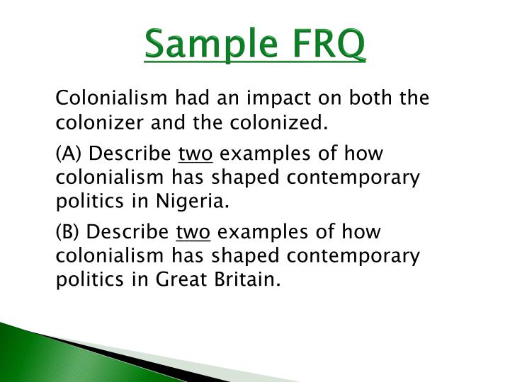 Sample FRQ