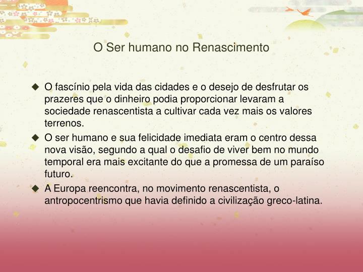 O Ser humano no Renascimento
