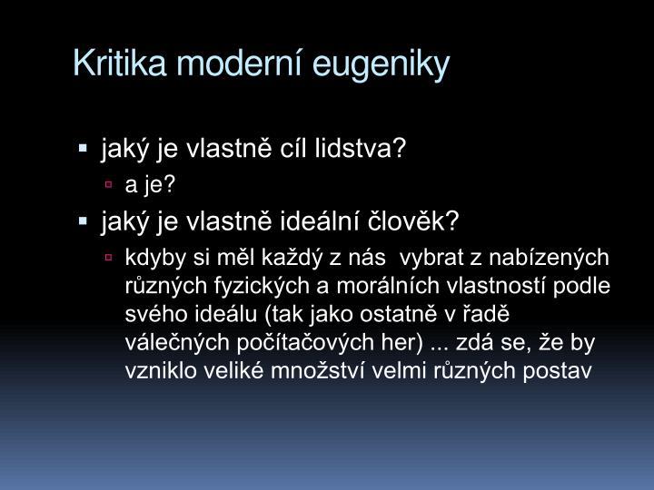 Kritika modern eugeniky