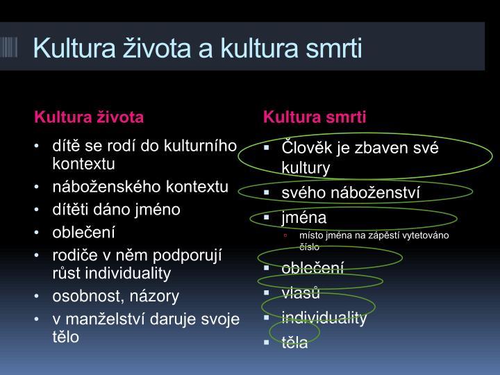 Kultura ivota a kultura smrti