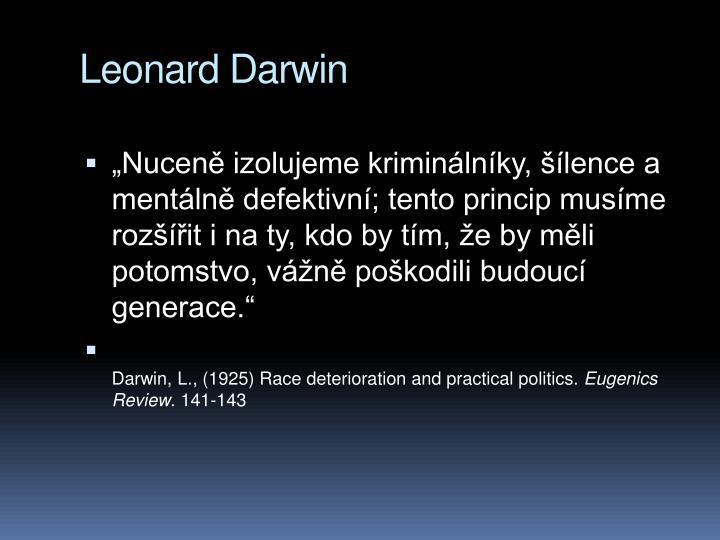 Leonard Darwin