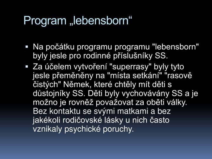 Program lebensborn