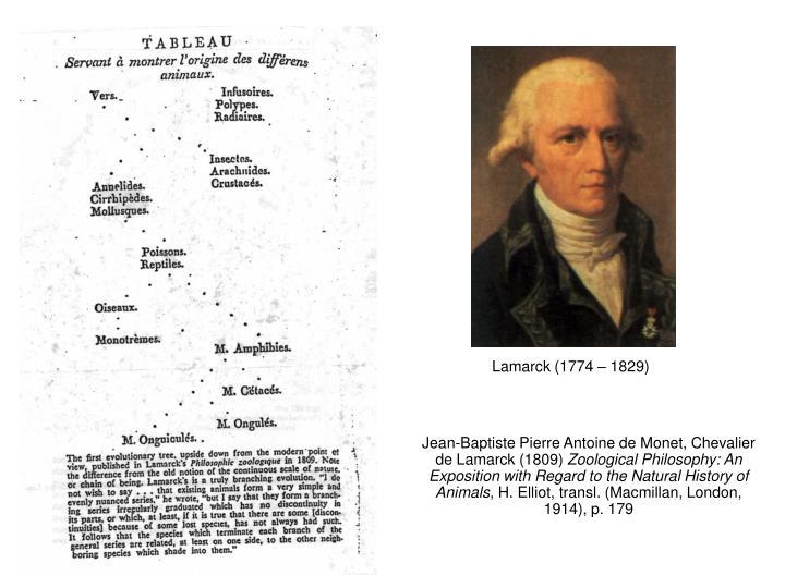 Jean-Baptiste Pierre Antoine de Monet, Chevalier de Lamarck (1809)