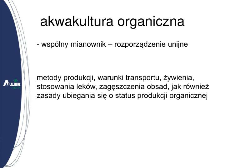 akwakultura organiczna