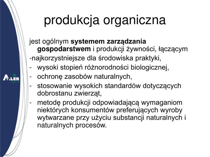 produkcja organiczna