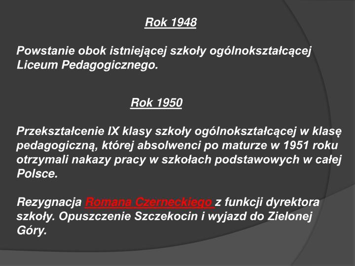Rok 1948