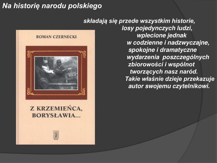 Na historię narodu polskiego