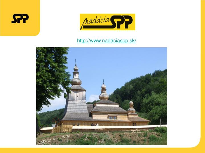 http://www.nadaciaspp.sk/