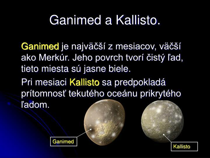 Ganimed a Kallisto.