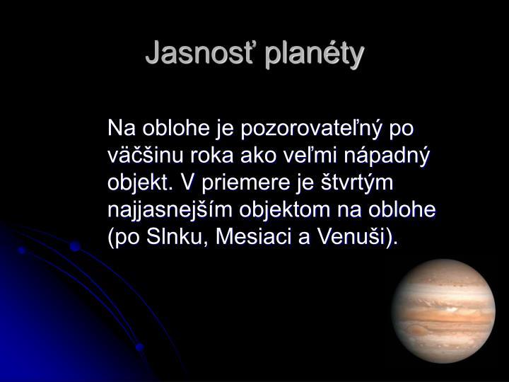 Jasnosť planéty