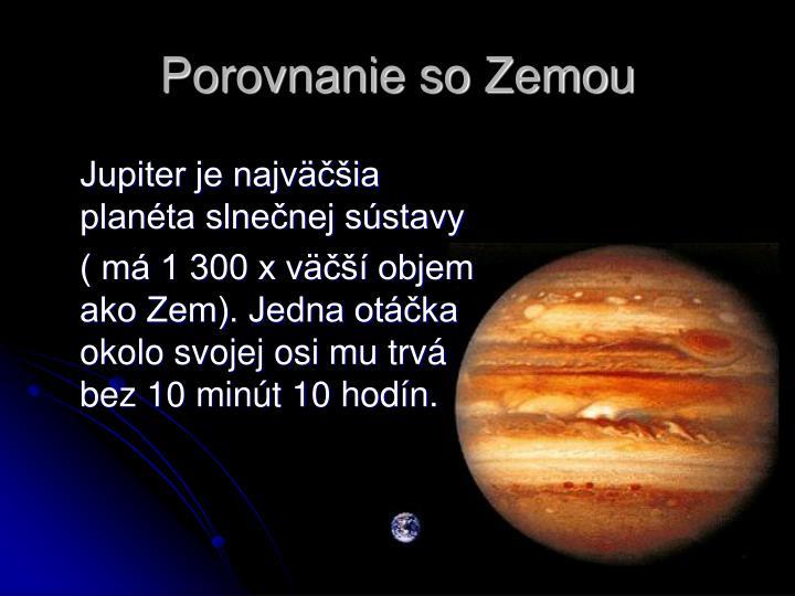 Porovnanie so Zemou