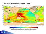 sea level rise observed regional trends