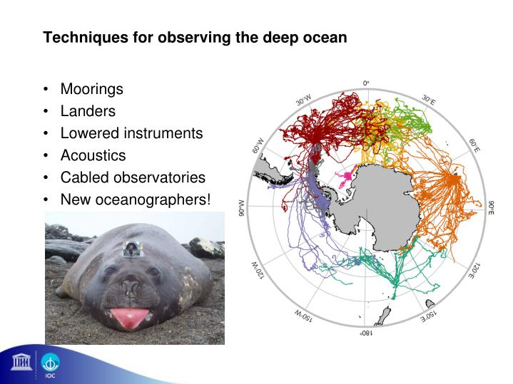 Techniques for observing the deep ocean