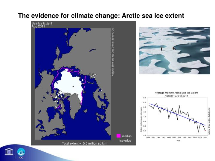 The evidence for climate change: Arctic sea ice extent