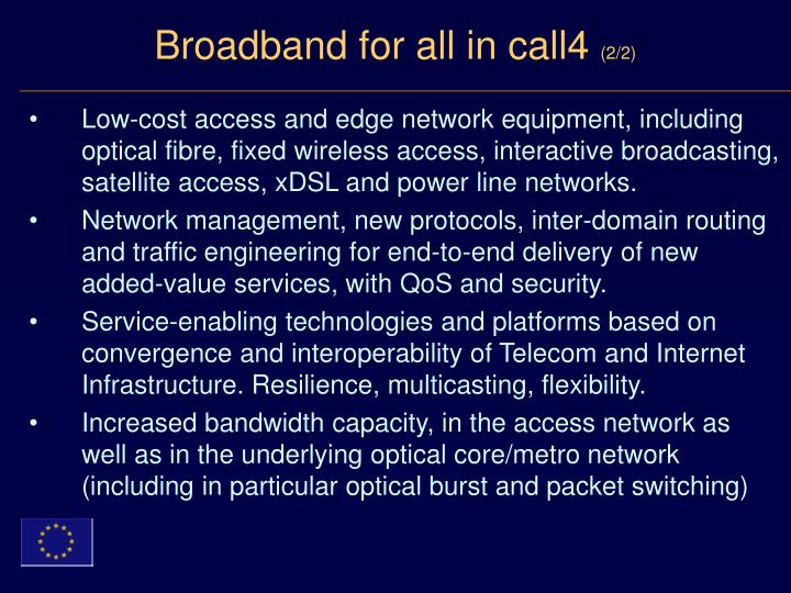 Broadband for all in call4