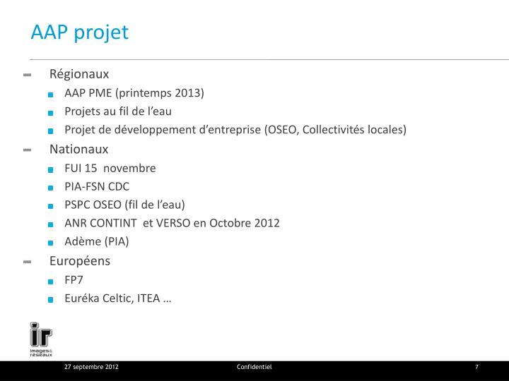 AAP projet