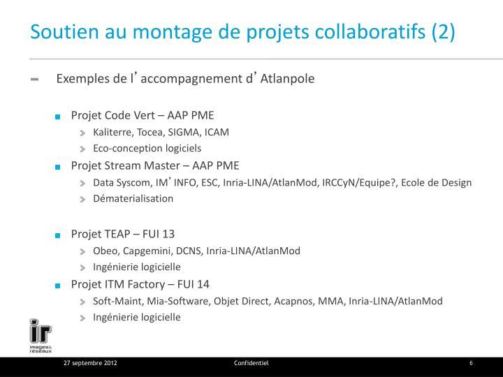 Soutien au montage de projets collaboratifs (2)