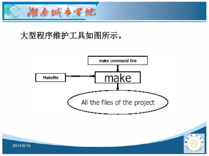 大型程序维护工具如图所示。