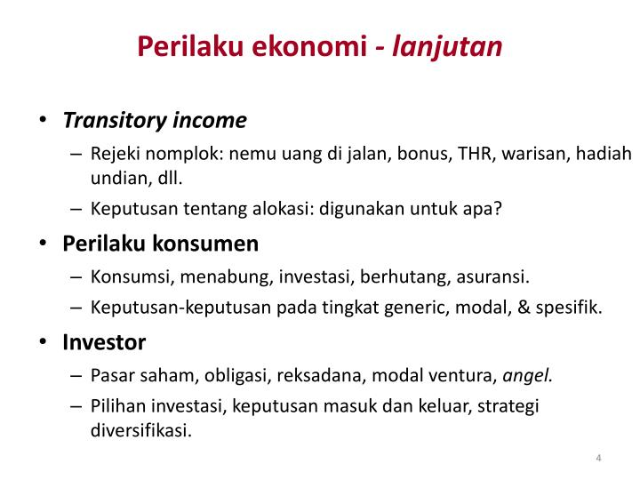 Perilaku ekonomi