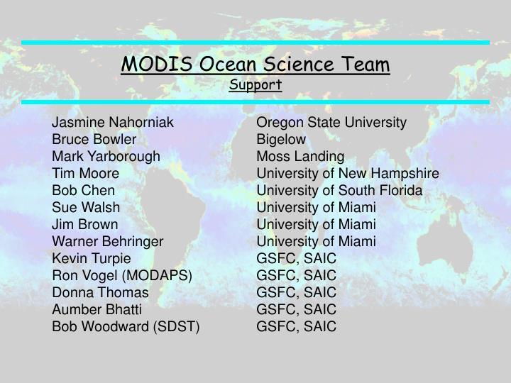 MODIS Ocean Science Team