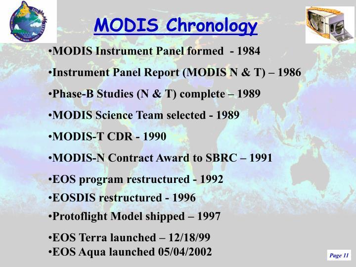 MODIS Chronology