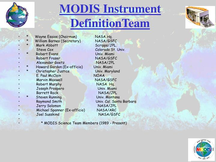 MODIS Instrument