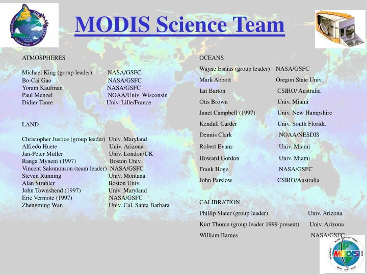 MODIS Science Team