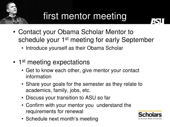 first mentor meeting