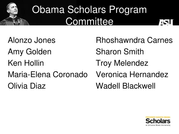 Obama Scholars Program Committee