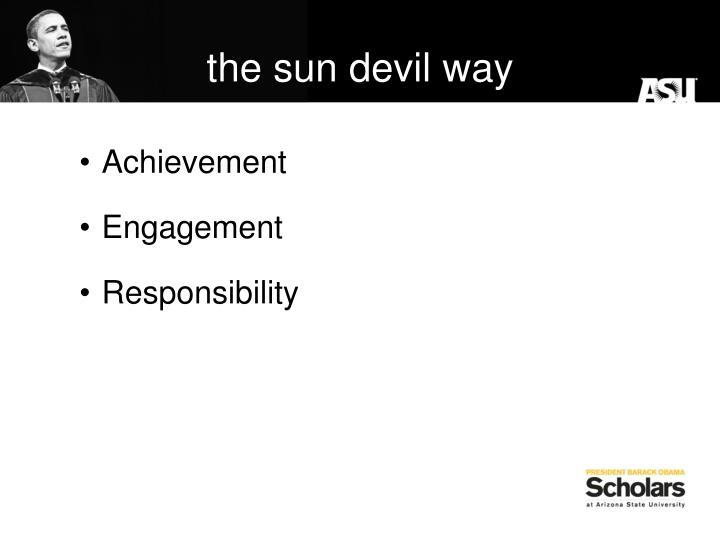 the sun devil way