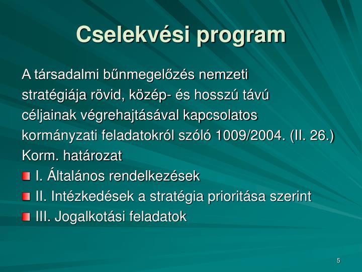 Cselekvési program