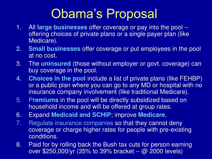 Obama's Proposal