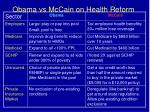 obama vs mccain on health reform
