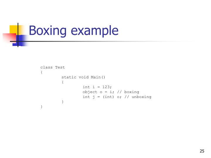 Boxing example