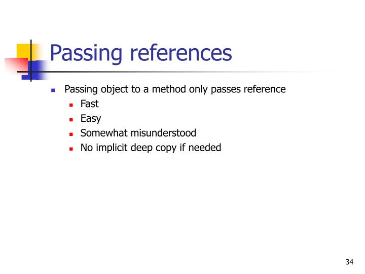 Passing references