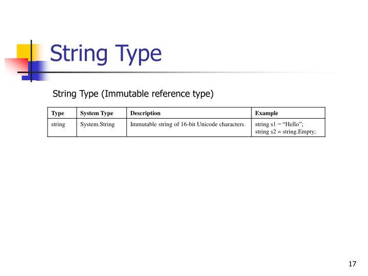 String Type