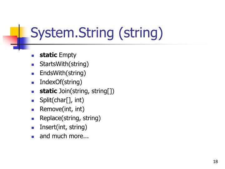 System.String (string)