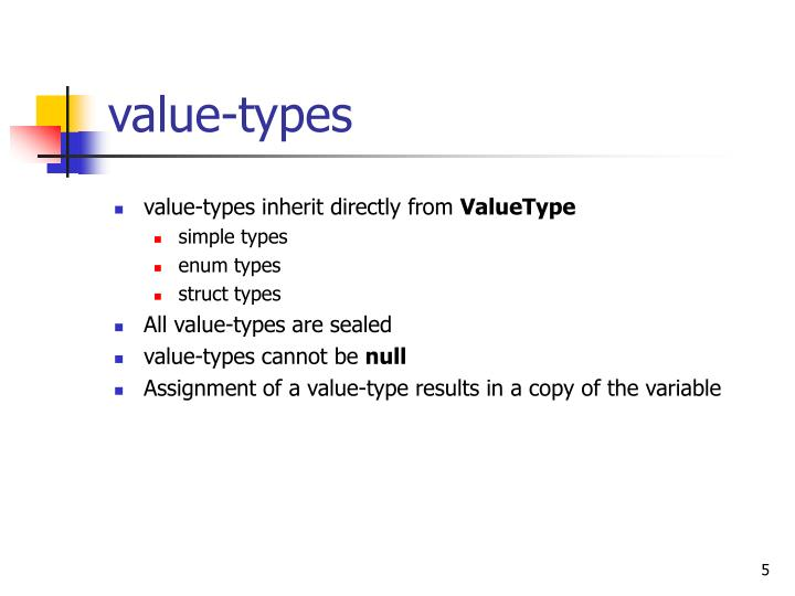 value-types
