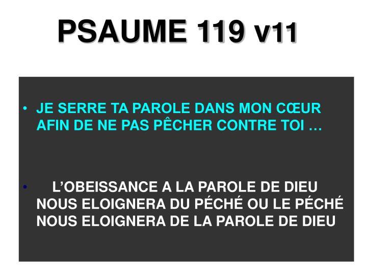 PSAUME 119 v