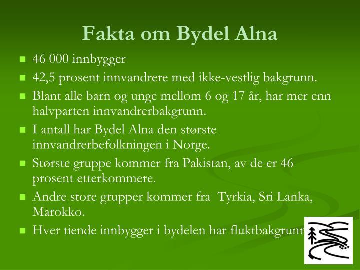 Fakta om Bydel Alna