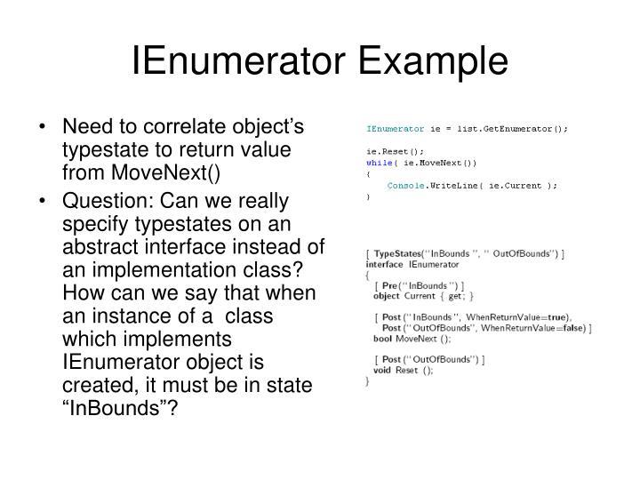 IEnumerator Example