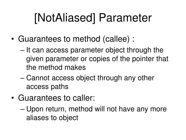 [NotAliased] Parameter